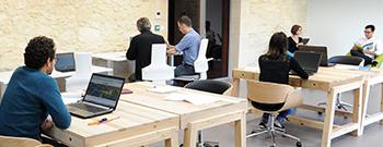 Bureaux ouverts espace collaboratif